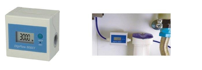 淨水器 飲水機用 LCD顯示流量與時間偵測器, 蜂鳴器動作可開始更換濾心