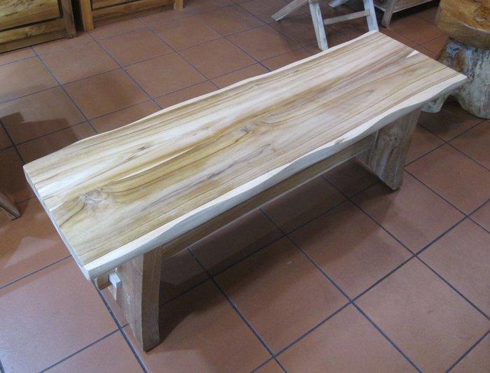 【肯萊柚木傢俱館】(訂製款)100%老柚木 自然邊奇木造型 大塊拼接 無上漆長板凳 民宿 店面 實用美觀