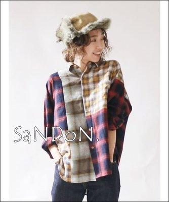 SaNDoN x『UNGRID』秋冬拼色系列 自留 廓形格紋不規則設計感正點襯衫 SLY MOUSSY 180918