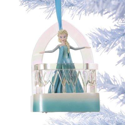Disney迪士尼公主Frozen冰雪奇緣Elsa艾莎聖誕節耶誕樹立體造型唱歌音樂吊飾/ 掛飾/ 擺飾 台北市