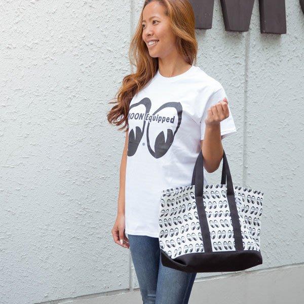 (I LOVE樂多) MOON Equipped To-te Bag MOONEYES 滿版LOGO 大容量 托特包