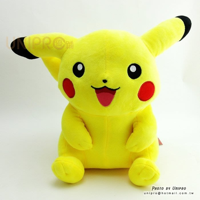 【UNIPRO】神奇寶貝 皮卡丘 Pikachu 30公分 胖丘 絨毛娃娃 玩偶 禮物 正版授權 寶可夢 Pokemon