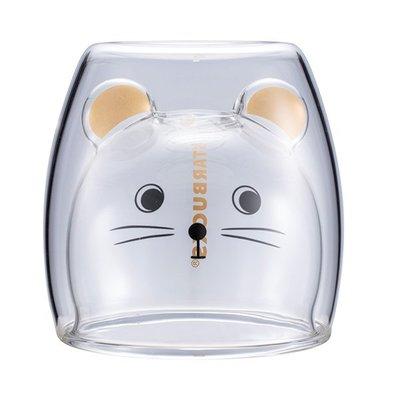 starbucks 星巴克 金鼠報喜雙層玻璃杯