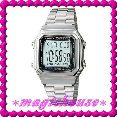 *夢幻精品屋*原廠公司貨CASIO~10年電池電子錶 A178WA-1A