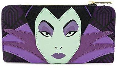 【丹】A_Loungefly x Disney Maleficent Villain 睡美人 黑魔女 毒蘋果 錢包 長夾