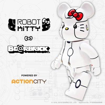 Be@rbrick Robot Kitty 1000% 新加坡現定 白色