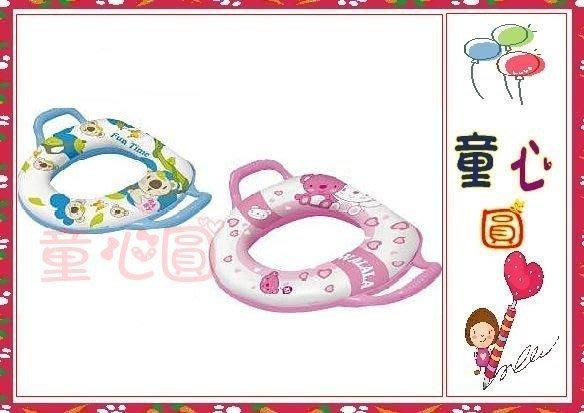 小熊馬桶扶手 (藍&粉)/台灣製造 *ST安全玩具 *外銷精品◎童心玩具1館◎