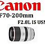 ((名揚數位)) CANON RF 70- 200mm F2.8 IS U...