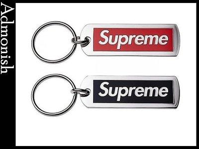 【Admonish 】全新正品 Supreme Metal Tag Keychain 金屬鐵牌 鑰匙圈 紅/黑 小物