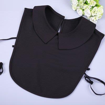 假領子 襯衫 領片-黑/白雪紡後置鎖扣女裝配件4款73va7[獨家進口][米蘭精品]