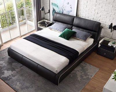 床定制1.8米北歐輕奢床真皮床簡約現代主臥雙人床婚床傢俱RAB2A