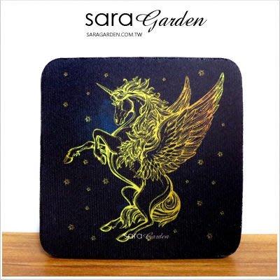客製化 杯墊 透氣 防滑墊 隔熱墊 軟Q 獨角獸 銀河 Sara Garden【Y0316003】