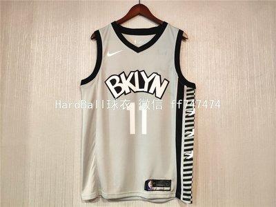 凱里·厄文(Kyrie Irving)  NBA布魯克林籃網隊 熱轉印款式 球衣11號 灰色