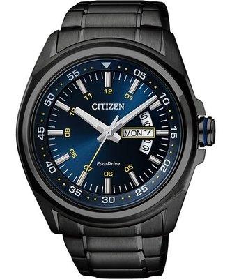 CITIZEN Eco-Drive 時尚光動能腕錶(AW0024-58L)-黑/ 43mm 新北市