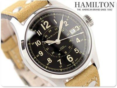 HAMILTON 漢米爾頓 手錶 Khaki Field 透明背蓋 機械錶 瑞士製 上班族 業務 生日 禮物 H70595593