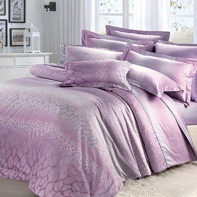 【芃云生活館】防螨抗菌《北極之光》60支長纖精梳棉加大床包兩用被四件組