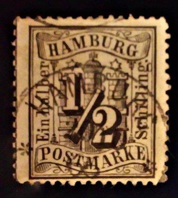P101204 / 1864-1866 / 德國國家漢堡 / CLASSIC 1/2 Black Sc#13 Fraud