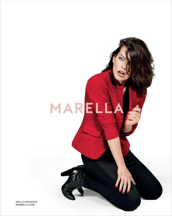 【  Marella】紅色公主袖西裝上衣