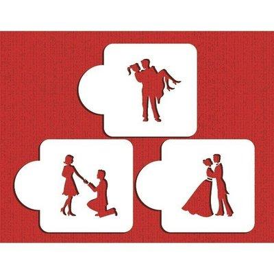 【超值特惠】*愛焙烘焙* Designer STENCILS c934愛的路程模板 求婚 結婚 灑粉造型 情人節