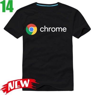 【Chrome Google 谷歌】短袖創意設計T恤(6種顏色 男.女版皆有) 任選4件以上每件400元免運費【賣場四】
