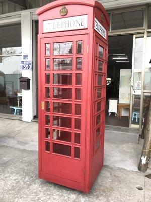 手工製加大款*英式電話亭展示櫃(造型置...