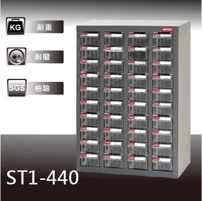 【經典抽屜零件櫃】樹德 ST1-440 40格抽屜 可耐重302kg 裝潢 水電 維修 汽車 耗材 電子 3C 包膜 精