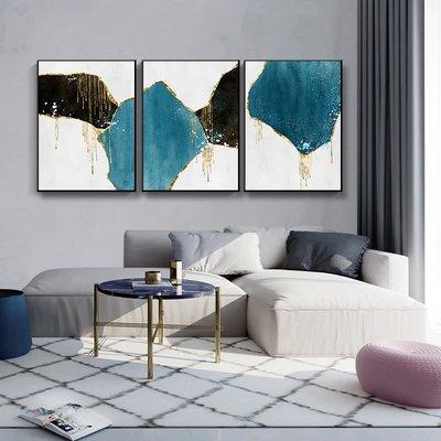 現代掛畫三件組【RS Home】40×60cm 抽象藝術無框掛畫相框木質壁畫北歐中式裝飾畫板民宿攞飾油畫掛鐘掛畫