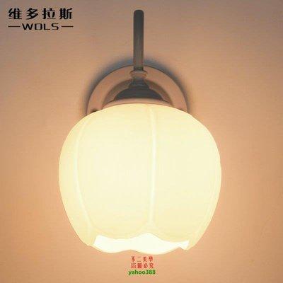 {美學}美式鄉村復古壁燈歐式簡約現代臥室床頭燈客廳過道燈燈具MX_142