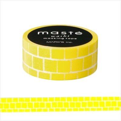 【R的雜貨舖】紙膠帶分裝 MARK'S masté/ Basic 磚塊黃