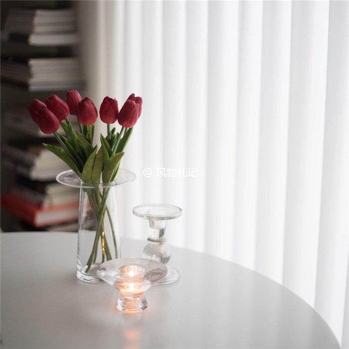 #創意 裝飾品 居家韓國藝術設計花瓶透明玻璃花器現代簡約家居裝飾民宿咖啡館擺件