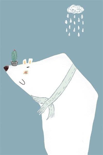 三幅一組油畫布 卡通可愛動物小清新 畫芯/畫布/30X40☺暖暖屋☺傢居藝術館