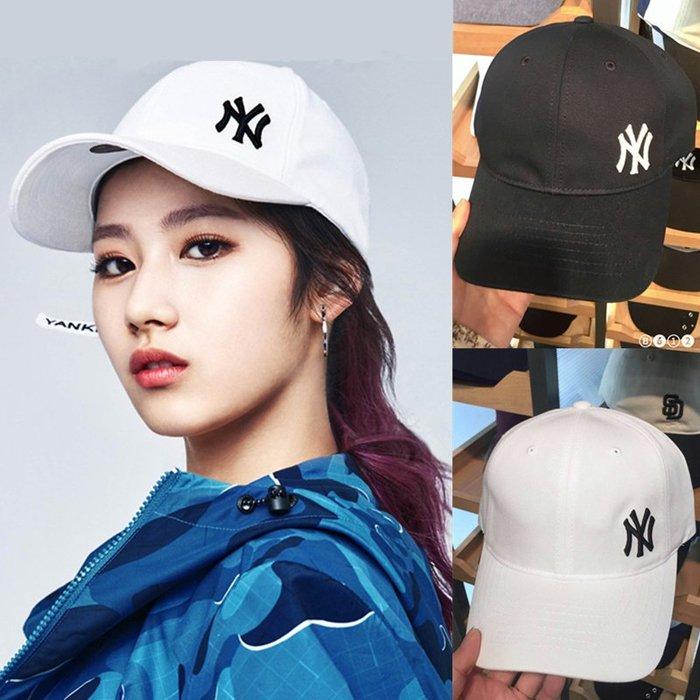 韓國代購 18新款韓國MLB棒球帽潮男女NY鴨舌帽小標洋基隊帽子加長帶yankees