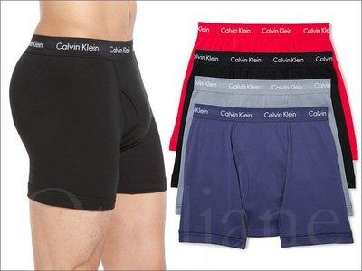 4色 Calvin Klein Brief CK卡文克萊彈性棉內褲平口四角褲男內著四件一組S M L號 愛Coach包包