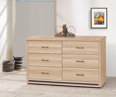 【南洋風休閒傢俱】精選時尚床頭櫃 置物櫃 收納櫃 設計櫃-凱威灰橡四尺六斗櫃 CY210-308