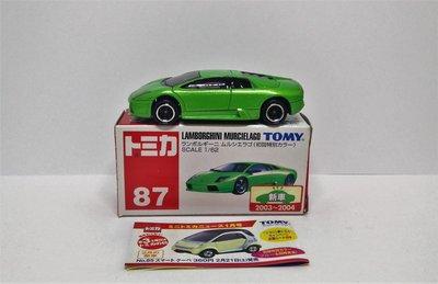 [ Takara Tomy Tomica ]  87 Lamborghini Murcielago 初回 (新車貼)(藍字)(中制)