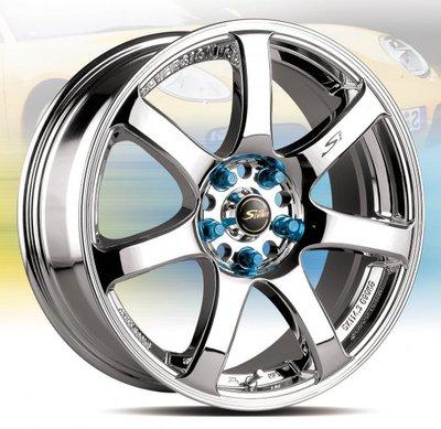 【FK鋁圈】YH01 17吋鋁圈 5/100 白電鍍7J ET45