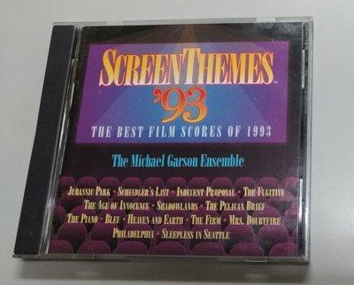 Screen Themes 93 金獎名單 最佳電影音樂 ( 美版 無IFPI ) -二手絕版CD(託售)
