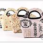 ✿小布物曲✿ 手作D型巧口包-4種花色 進口純棉布料手工縫製