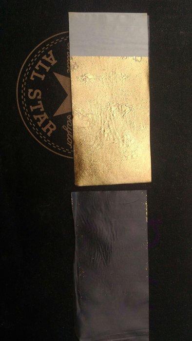 離型 金箔 塑膜 透明紙 透明膜 金箔紙 3x5cm 50張 靜電 不捲皺 初學 新手 垂直不掉落 類 轉印 臉 面膜