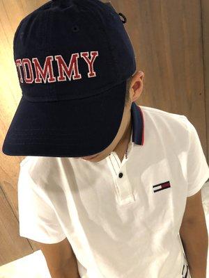 美國百分百【Tommy Hilfiger】帽子 TH  配件 棒球帽 遮陽帽 鴨舌帽 LOGO 休閒 深藍色 J382