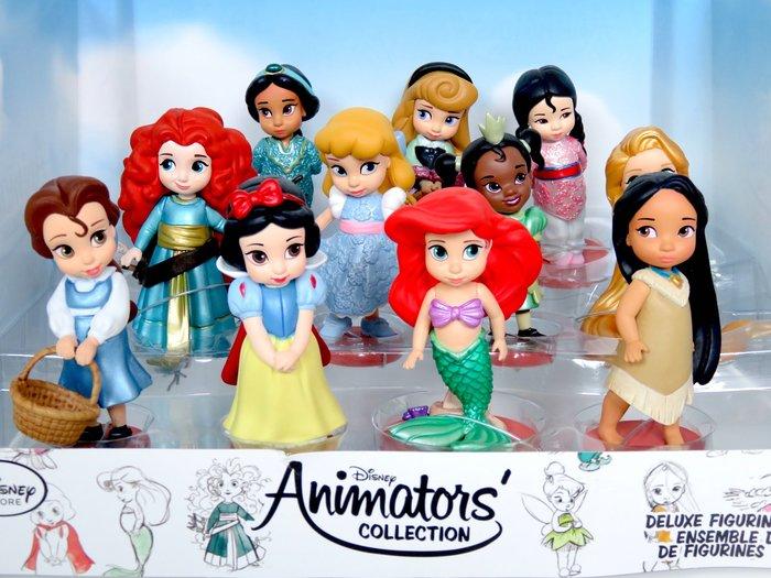 現貨【迪士尼 Disney】全新美國正品 手繪Q版人偶 奇妙仙子 長髮公主 愛瑞兒 艾莎 全套共20隻【高約10公分】