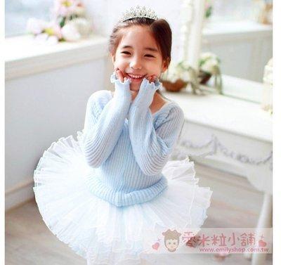 純棉針織舞蹈毛衣罩衫 ☆愛米粒☆ 1557藍色