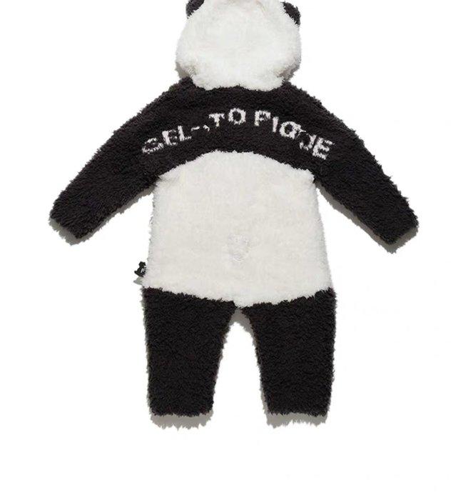 陽光角落~ KIDS & BABY 可愛熊貓  軟綿綿 保暖  連身裝 爬服-兔裝