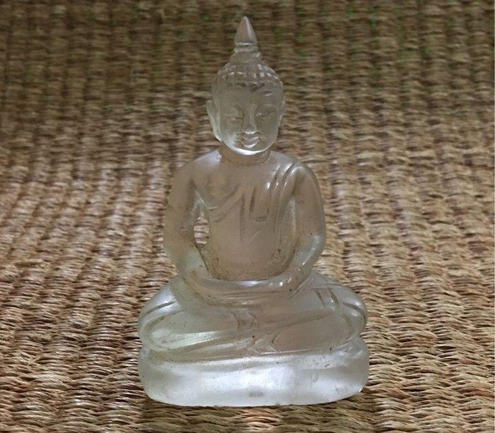 如是P851阿彌陀佛(白水晶彫)純手工彫刻