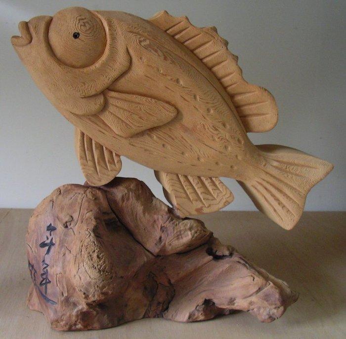 (禪智木之藝)立體字木雕 樟木 立體字 雕刻 立體雕刻藝術 工廠直營-年年有餘(魚)