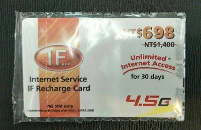 【LG小林忠孝】遠傳電信 IF  4G 上網儲值卡 55GB  30天吃到飽 只要655元
