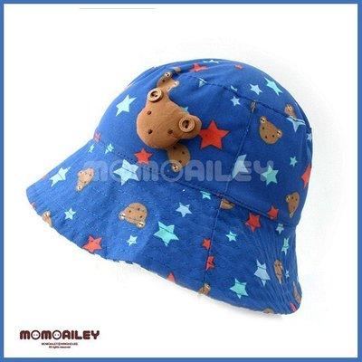 『※妳好,可愛※』韓國童鞋 超可愛星星小熊遮陽帽 寶寶兒童漁夫帽 盆帽 帽子 配件