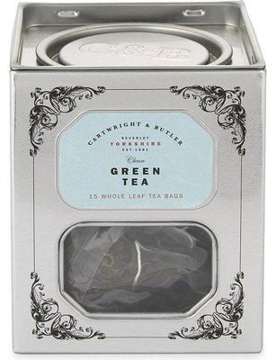 [要預購] 英國代購 英國CARTWRIGHT & BUTLER 鐵罐裝綠茶 15袋 45g
