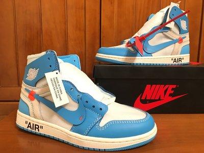 【H-Sneaker】預購 NIKE AIR JORDAN 1 OFF-WHITE UNC 男女鞋 AQ0818-148