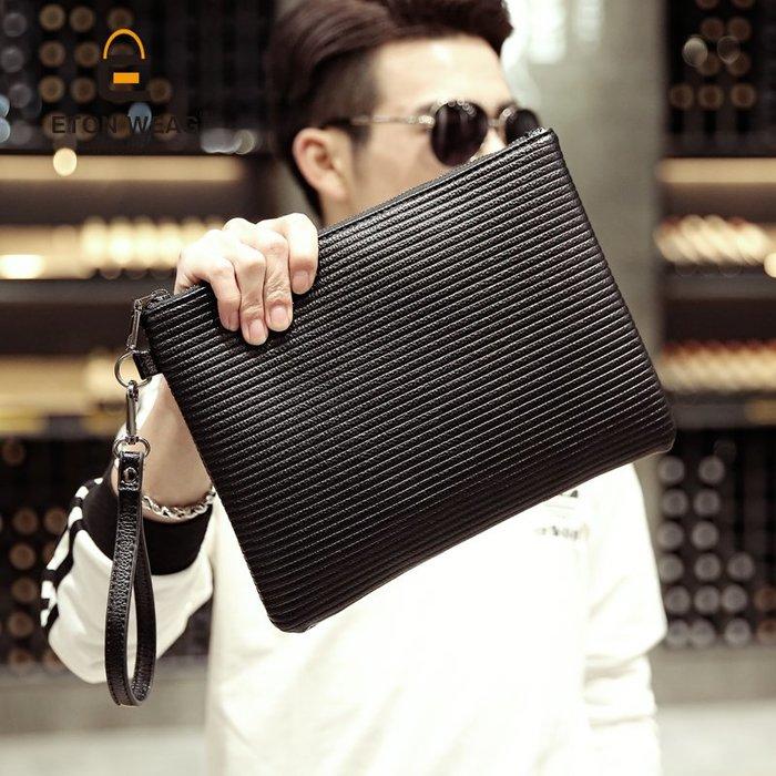 韓版男士新款手抓包 潮流時尚文件手拿包 休閑商務文件包iPad包 11NLD55